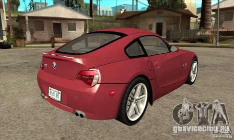 BMW Z4 - Stock для GTA San Andreas вид справа
