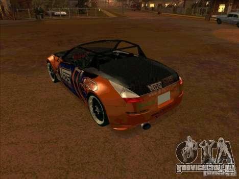Nissan 350Z NOS Energy Drink для GTA San Andreas вид справа
