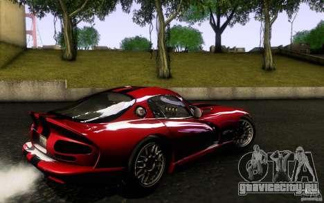 Dodge Viper GTS Coupe TT Black Revel для GTA San Andreas вид слева