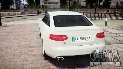 Audi RS6 2010 для GTA 4 вид сзади слева