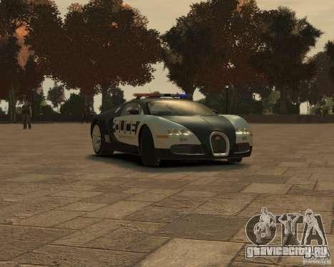 Bugatti Veyron Police [EPM] для GTA 4 вид слева