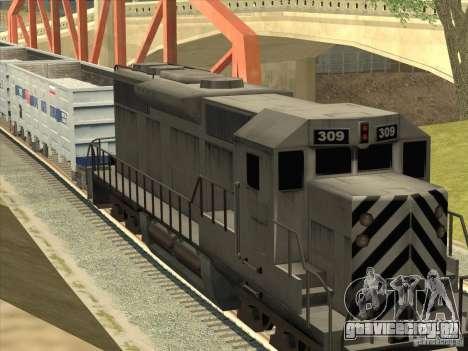 Полувагон 12-196-01 для GTA San Andreas вид сзади слева