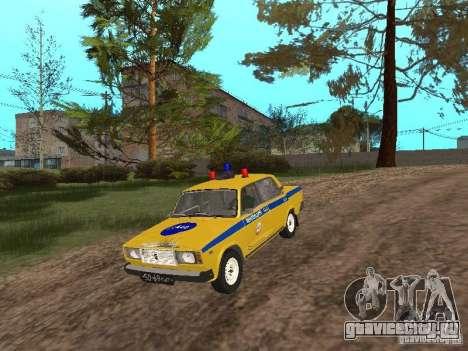 ВАЗ 2107 ГАИ для GTA San Andreas вид справа