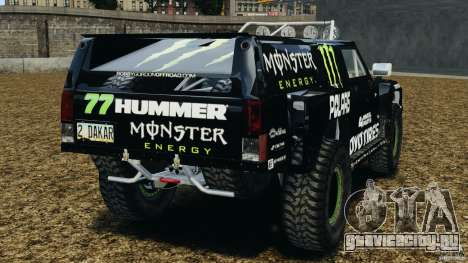 Hummer H3 raid t1 для GTA 4 вид сзади слева