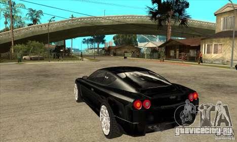GTA IV SuperGT для GTA San Andreas вид сзади слева