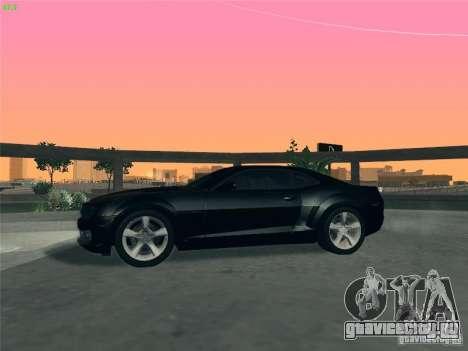 Chevrolet Camaro SS для GTA San Andreas вид сверху