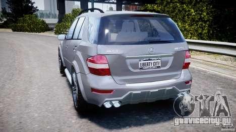 Mercedes-Benz ML63 AMG v2.0 для GTA 4 вид сзади слева