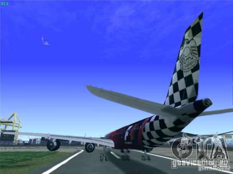 Airbus A340-600 Etihad Airways F1 Livrey для GTA San Andreas вид сзади слева