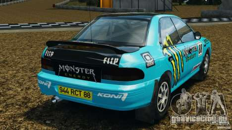 Subaru Impreza WRX STI 1995 Rally version для GTA 4 вид сзади слева