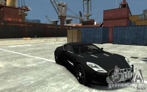 Aston Martin One 77 для GTA 4 вид сзади