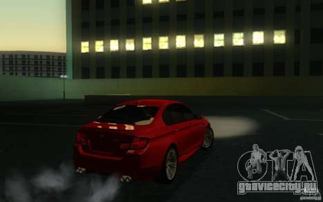 BMW M5 2012 для GTA San Andreas вид сзади слева