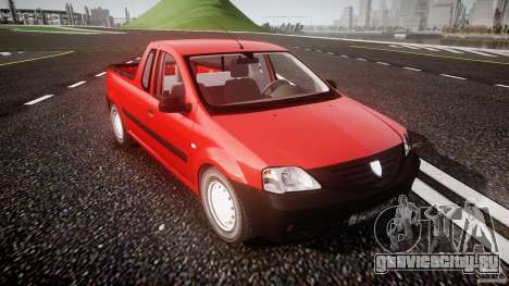 Dacia Logan Pick-up ELIA tuned для GTA 4 вид изнутри