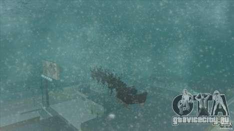 Оленья упряжка Деда Мороза для GTA San Andreas вид справа