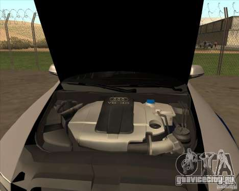 Audi RS6 2010 ДПС для GTA San Andreas вид сзади