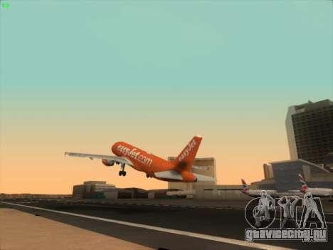 Airbus A320-214 EasyJet 200th Plane для GTA San Andreas вид сбоку