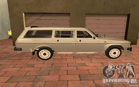 ГАЗ 31022 Универсал для GTA San Andreas вид сзади слева