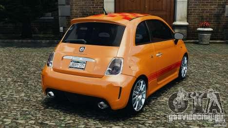 Fiat 500 Abarth для GTA 4 вид сзади слева