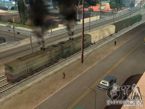 2ТЭ10В-4036 для GTA San Andreas вид сбоку