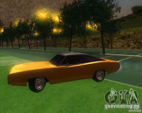 Dodge Charger RT 1968 для GTA San Andreas вид изнутри