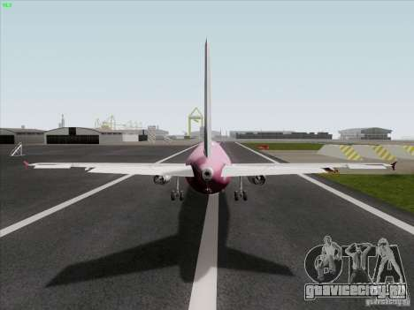 Airbus A319 Spirit of T-Mobile для GTA San Andreas вид сзади слева