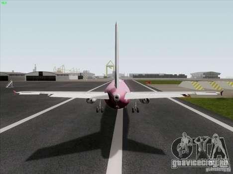 Airbus A319 Spirit of T-Mobile для GTA San Andreas вид сзади слева