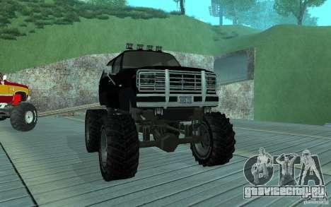 Ford Bronco Monster Truck 1985 для GTA San Andreas вид слева