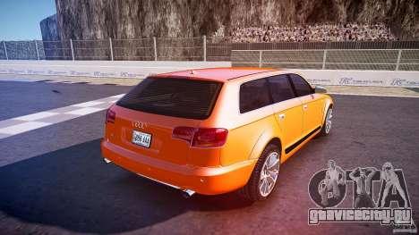 Audi A6 Allroad Quattro 2007 wheel 2 для GTA 4 вид сверху