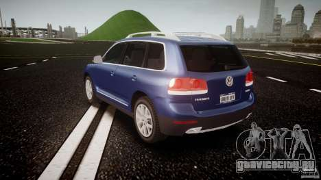 Volkswagen Touareg 2008 TDI для GTA 4 вид сзади слева