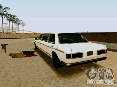 Admiral Limo для GTA San Andreas вид сзади слева