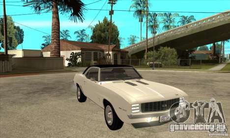 Chevrolet Camaro SS - Stock для GTA San Andreas вид сзади