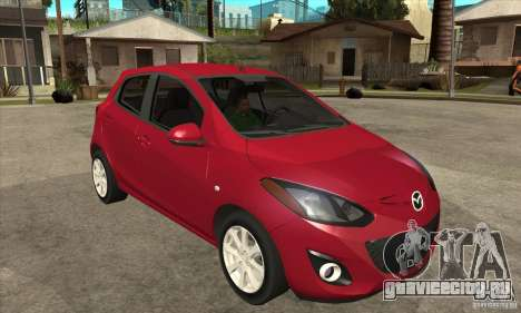 Mazda 2 2011 для GTA San Andreas вид сзади