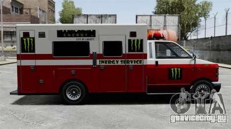 Скорая помощь Monster Energy для GTA 4 вид сзади слева