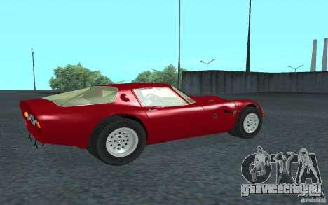 Alfa Romeo Gulia TZ2 1965 для GTA San Andreas вид сзади слева