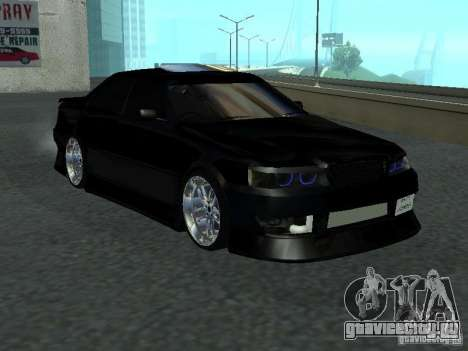 Toyota Chaser JZX 100 Tunable для GTA San Andreas вид сзади слева
