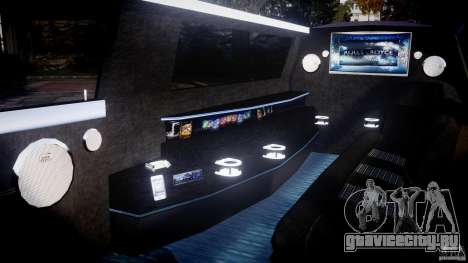 Rolls Royce Phantom Sapphire Limousine Disco для GTA 4 вид изнутри