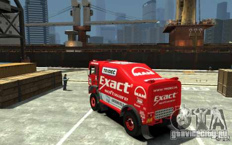 MAN TGA Rally Truck для GTA 4 вид сзади слева