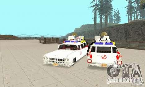 Ghostbusters ECTO 1 для GTA San Andreas вид сзади