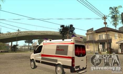 Volkswagen Crafter Ambulance для GTA San Andreas вид сзади слева