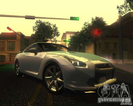 Nissan GTR R35 Spec-V 2010 Stock Wheels для GTA San Andreas вид снизу