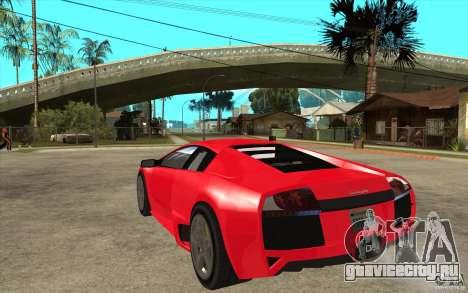 Lamborghin Murcielago LP640 v2 для GTA San Andreas вид сзади слева