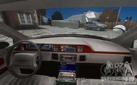 Chevrolet Caprice 1991 Police для GTA 4 двигатель