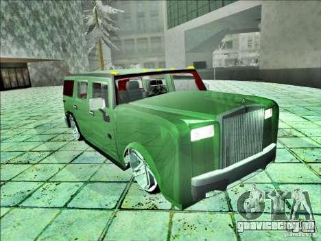 Hummer H2 Phantom для GTA San Andreas