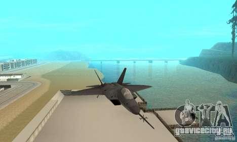 YF-22 Black для GTA San Andreas вид сзади