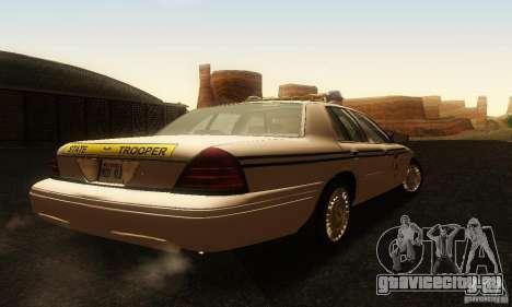 Ford Crown Victoria South Carolina Police для GTA San Andreas вид слева