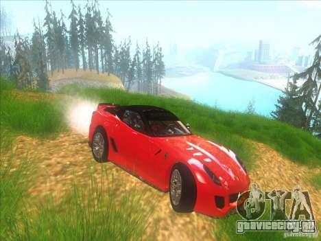 Ferrari 599XX для GTA San Andreas вид изнутри