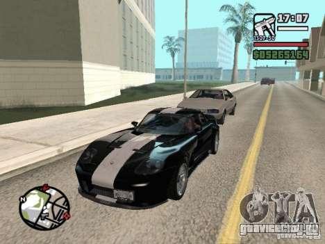 Banshee из GTA IV для GTA San Andreas вид сзади