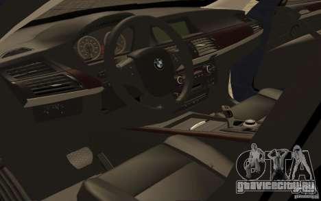 BMW X5 M 2009 для GTA San Andreas вид сзади