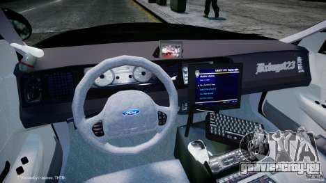 Ford Crown Victoria Massachusetts Police [ELS] для GTA 4 вид справа