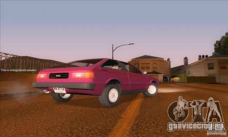 Isuzu Piazza для GTA San Andreas вид сзади слева