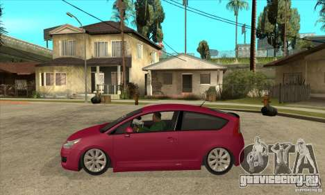 Citroen C4 VTS Coupe 2009 для GTA San Andreas вид слева